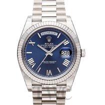 勞力士 (Rolex) Day-Date Blue 18k White Gold 40mm President - 228239