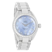 Omega Seamaster Aqua Terra Ladies Diamond Watch 231.15.34.20.5...
