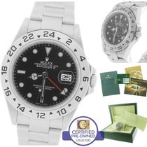 Rolex Explorer II 16570 T Z 3186 Black Date GMT 40mm Watch