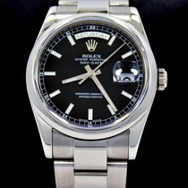 Rolex President Day-date 118209 New Style 18k White Gold Black...