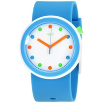 Swatch New Pop Poppingpop White Dial Silicone Strap Unisex...