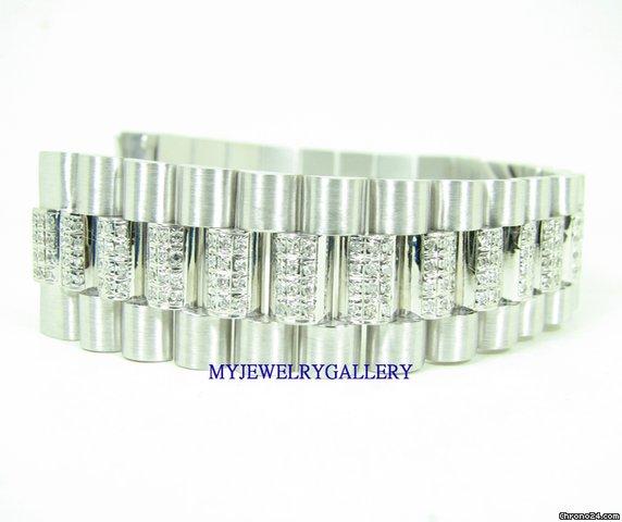 rolex aftermarket 18k wg bracelet band for mens