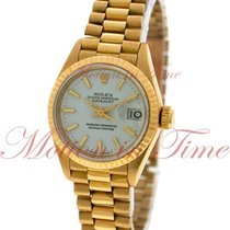 Rolex Datejust Ladies, White Index Dial, Fluted Bezel - Yellow...