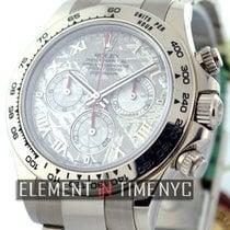Rolex Daytona 18k White Gold Meteorite Dial 40mm Ref. 116509