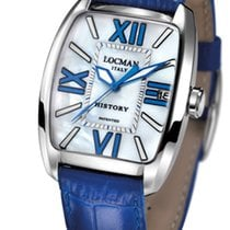 Locman History 486N00MWFBL0PSB Pearl Blue Quartz Men's Watch