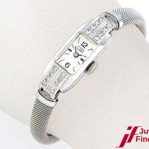 Cito Damenuhr in Platin/14K Weißgoldband - 16 Diamanten - Handau