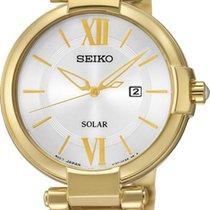 Seiko Solar SUT158P1 Damenarmbanduhr Klassisch schlicht