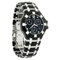 Concord Saratoga Diamond Ladies Blk Swiss Quartz Chrono Watch...
