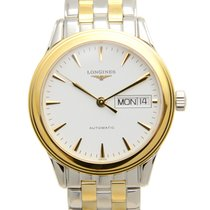 Longines Flagship Pvd Gold White Automatic L4.799.3.22.7