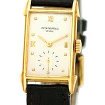 "Patek Philippe Vintage Gent's 18K Yellow Gold  ""Tank&#..."