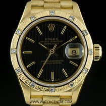 Rolex 18k Yellow Gold O/P Dia Bark Finish Bezel Datejust...