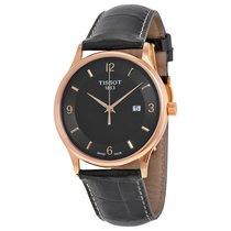 Tissot Rose Dream Quartz Black Dial Black Leather Men's Watch
