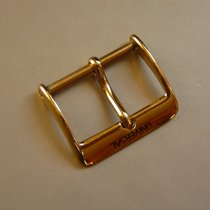 Universal Genève yellow gold plated pin buckle 18 mm