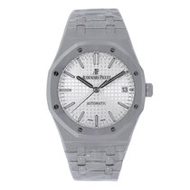 Audemars Piguet Ladies AP Royal Oak 37mm Steel White Dial