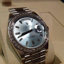 Rolex Platinum Day-Date 40mm Diamond Set 228396tbr