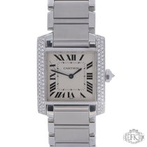 Cartier Tank Francaise Midsize Diamond Set  Stainless Steel...