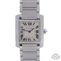Cartier Tank Francaise Midsize Diamond Set  Stainless Steel...