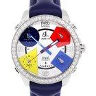 Jacob & Co. . JC2 5 Time Zone Diamond Bezel Watch