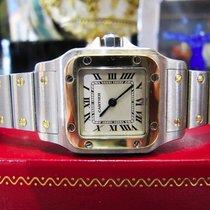 Cartier Santos Steel 18k Yellow Gold Quartz Roman Numeral Watch