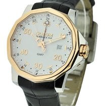 Corum 383.330.55/0081AA12 Admirals Cup 44mm GMT Mens in Rose...