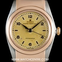 Rolex S/S & Rose Gold Rare Hooded Lugs Bubbleback Vintage...
