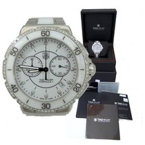 TAG Heuer Formula 1 One White Diamond Steel Ceramic Chronograp...