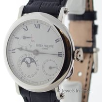 Patek Philippe Complications 18K White Gold Power Reserve Moon...