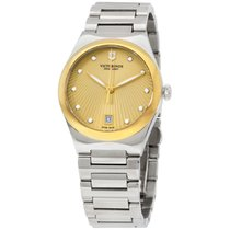 Victorinox Swiss Army Victorinox  Victoria Gold Dial Stainless...