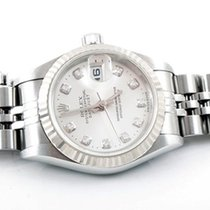 Rolex Ladies 79174 Datejust - Factory Silver Diamond Dial
