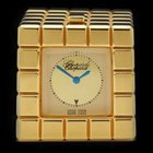 Chopard Travel Clock Ice Cube 18k Yellow Gold Plated Unisex...