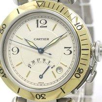 Cartier Pasha 38 Power Reserve 18k Gold Steel Watch W31012h3...