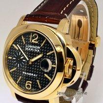 Panerai Luminor Marina 140 18k Gold 44m Mens Watch Box/Papers...