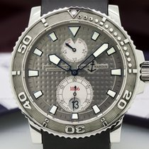 Ulysse Nardin 263-33 Maxi Marine Diver Silver Dial SS / Rubber...