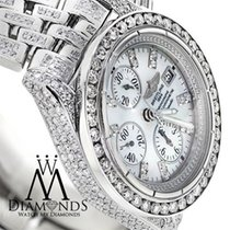 Breitling Evolution A13356 Mother Of Pearl Dial 15ct Diamond...