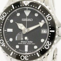 Seiko Polished Grand Seiko Sbga029 Spring Drive Diver Steel...