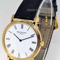 Patek Philippe Calatrava 18K Yellow Gold Mens Wrist Watch...