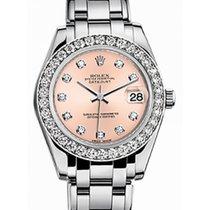 Rolex Pearlmaster 34 81299 Pink Diamond Bezel White Gold