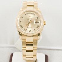 Rolex 36mm DayDate President Watch 118238 Champagne Dial