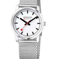Mondaine Ladies Simply Elegant Watch - White Dial - Mesh ...