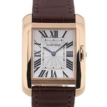 Cartier Tank Anglaise Silvered Flinque Dial Ladies Watch W5310042