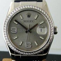 Rolex Datejust 116189 18k White Gold Silver Wave Jubilee...