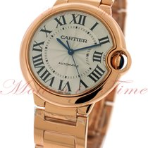 Cartier Ballon Bleu Automatic Medium, Silver Dial - Pink Gold...