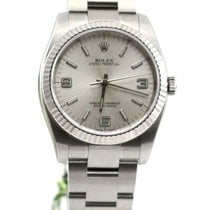 Rolex Oyster Perpetual no date silver dial 3-6-9 116034 NEW