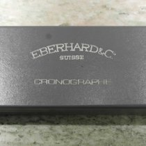 Eberhard & Co. vintage watch big box chrono leather grey...