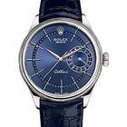 Rolex Cellini Time 50519 39mm Blue Guilloche Index White Gold...