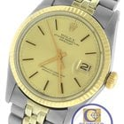 Rolex DateJust 36mm 1601 Two-Tone Yellow Gold Champagne Stainless