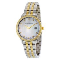 Raymond Weil Toccata Mother of Pearl Diamond Dial Two-tone...
