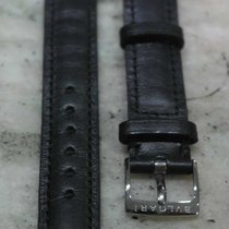 Bulgari vintage strap leather black mm 14 with steel buckle  new