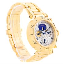 Cartier Pasha Three Time Zone Moonphase Yellow Gold Automatic...