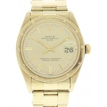 Rolex Men's Rolex Oyster Perpetual Date 18k YG 1500